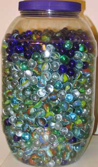a jar full of marbles